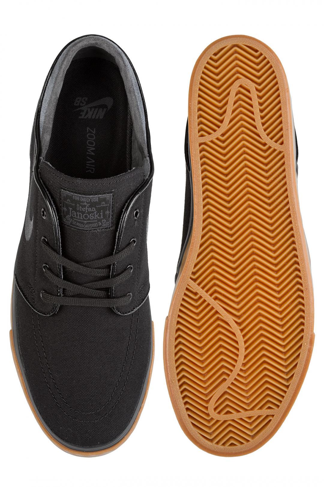 Uomo Nike SB Zoom Stefan Janoski Canvas black anthracite gum | Scarpe da skate