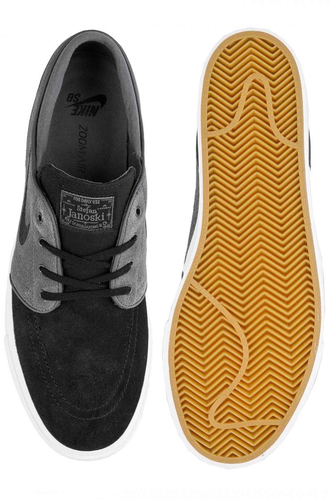 Uomo Nike SB Zoom Stefan Janoski dark grey black summit white | Scarpe da skate