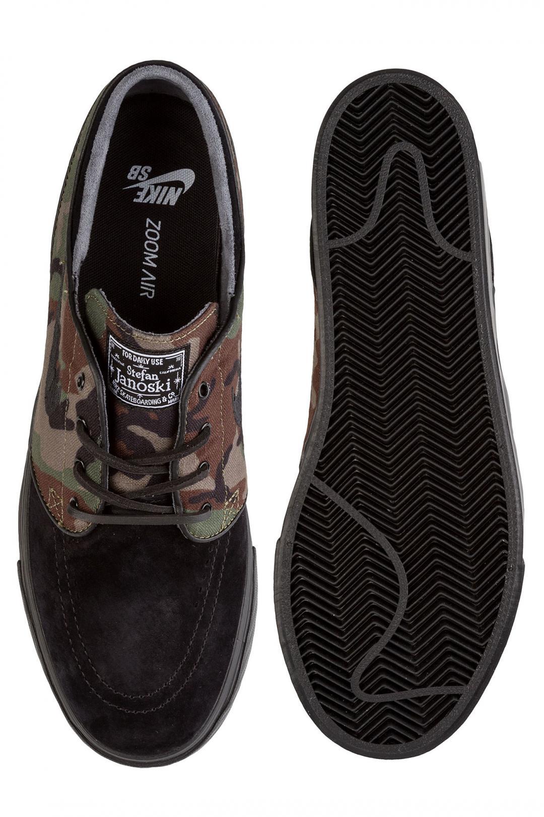 Uomo Nike SB Zoom Stefan Janoski OG black black medium olive   Scarpe da skate