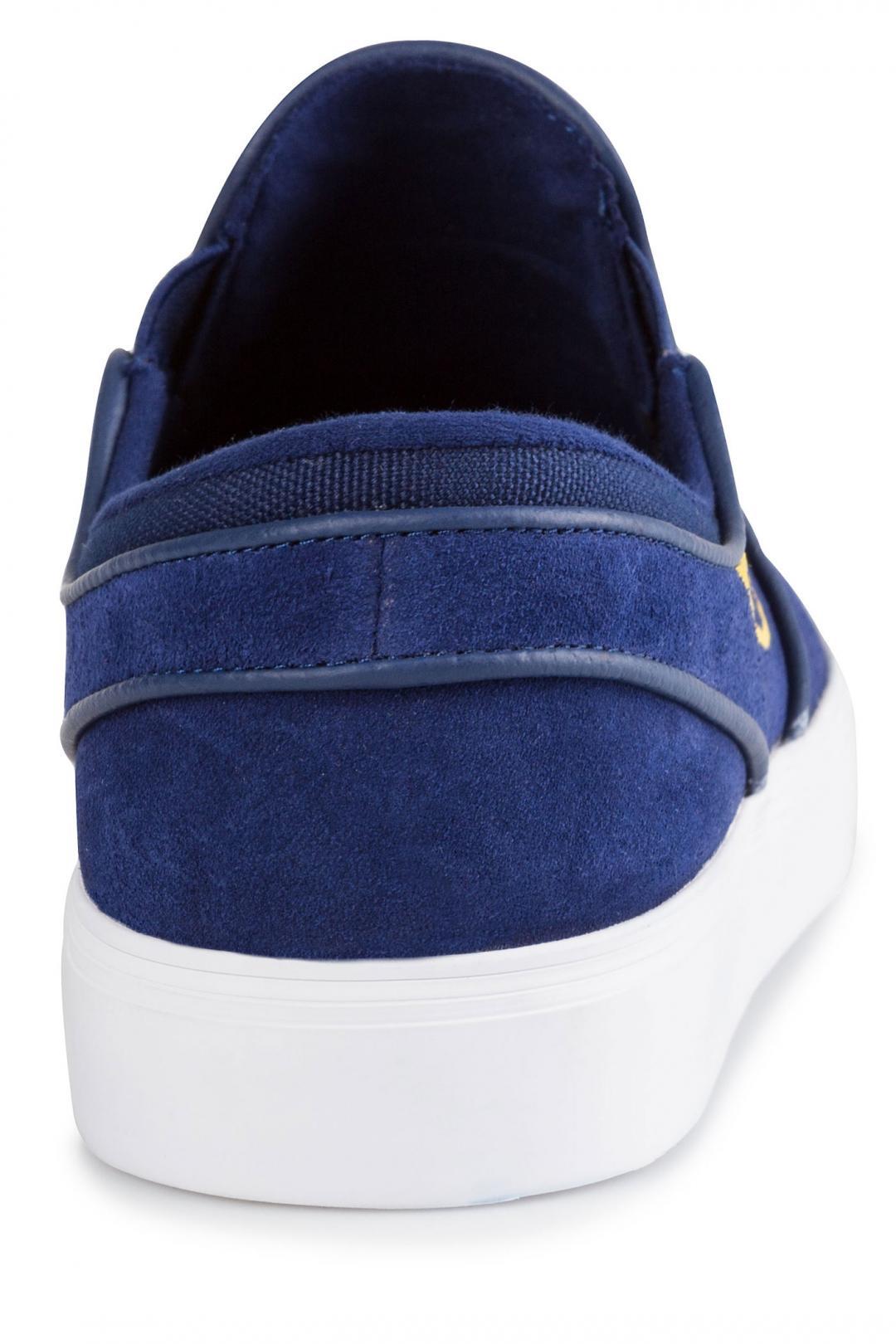 Uomo Nike SB Zoom Stefan Janoski Slip blue void yellow ochre   Sneaker