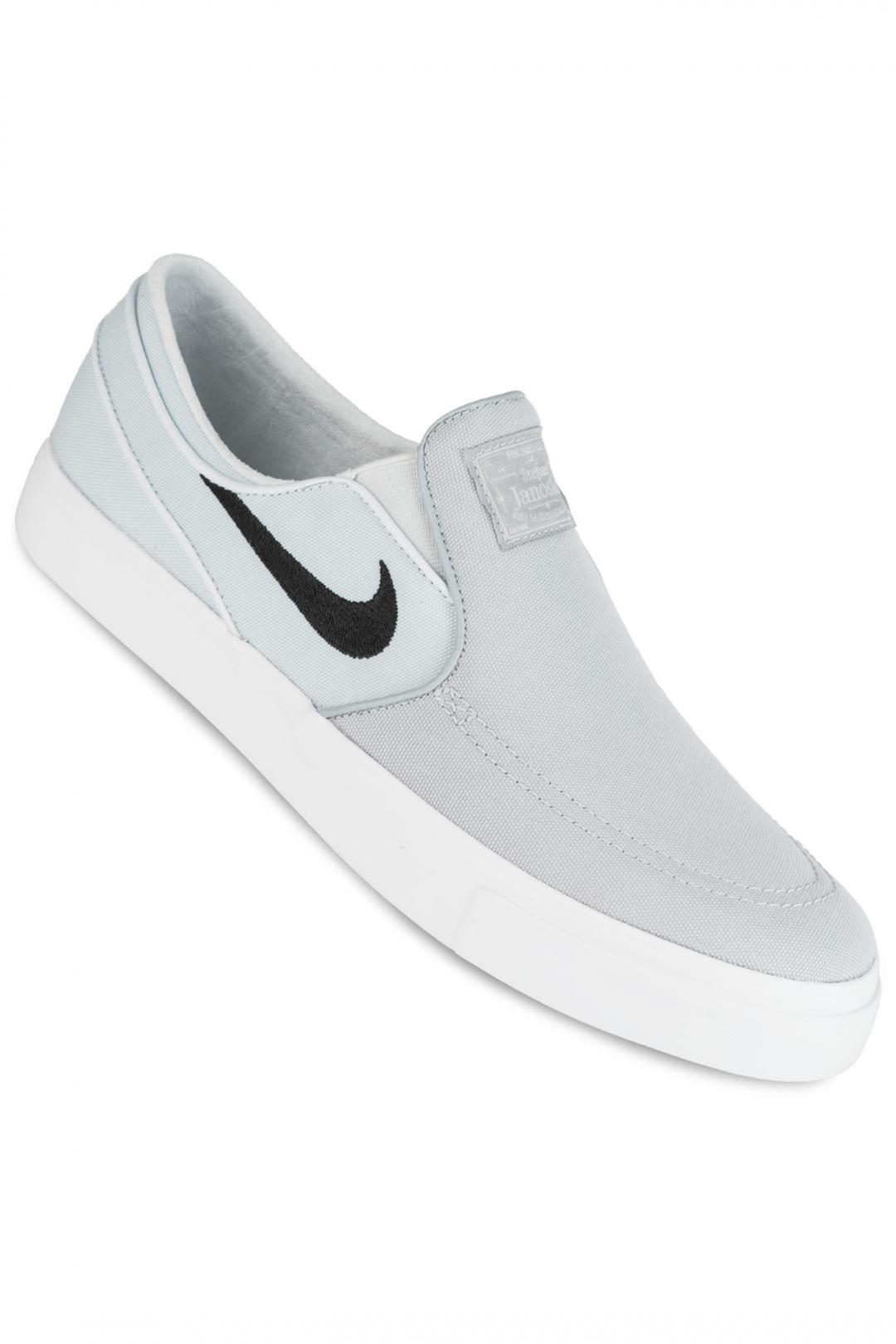 Uomo Nike SB Zoom Stefan Janoski Slip Canvas wolf grey black | Scarpe da skate