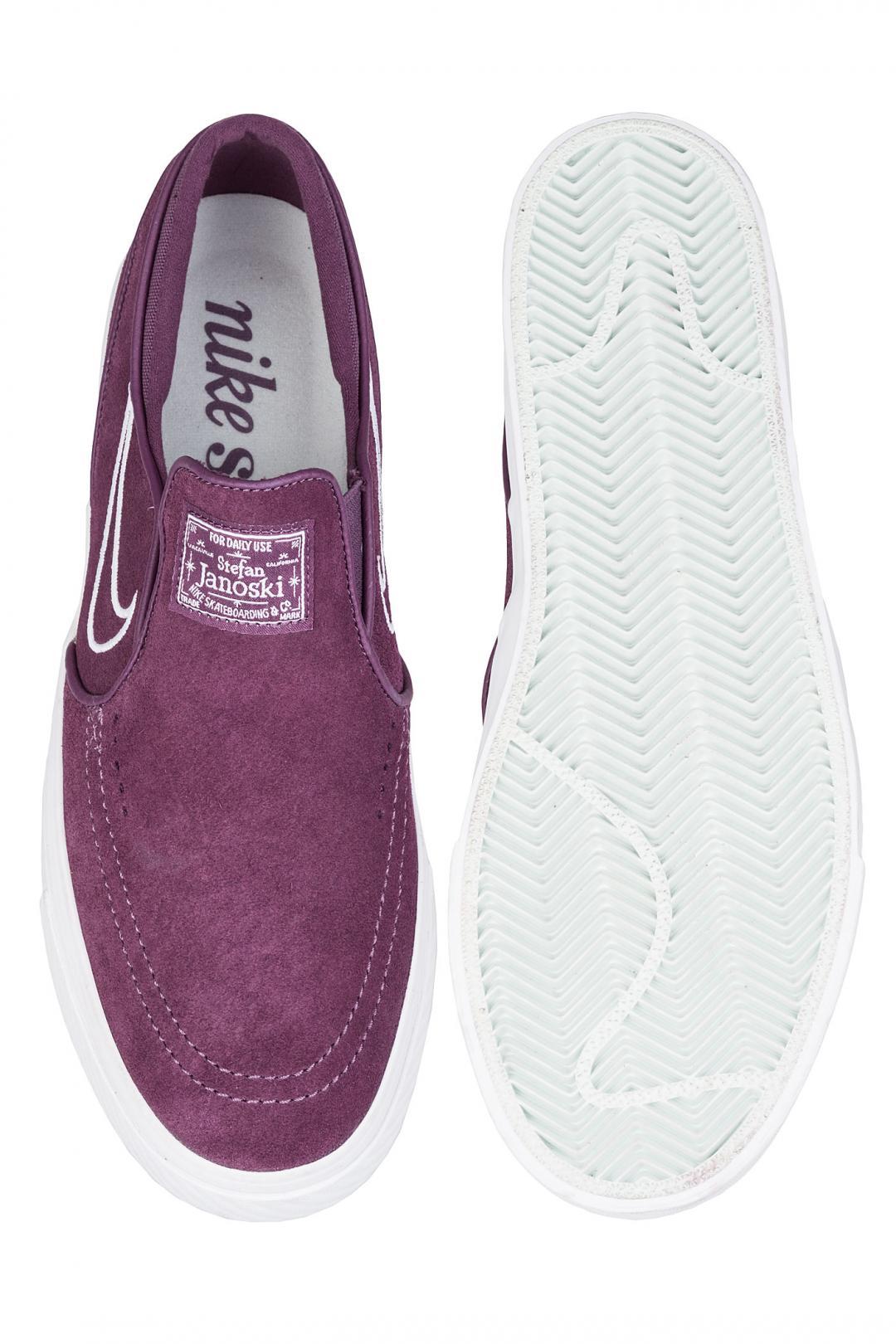 Uomo Nike SB Zoom Stefan Janoski Slip pro purple white | Scarpe da skate