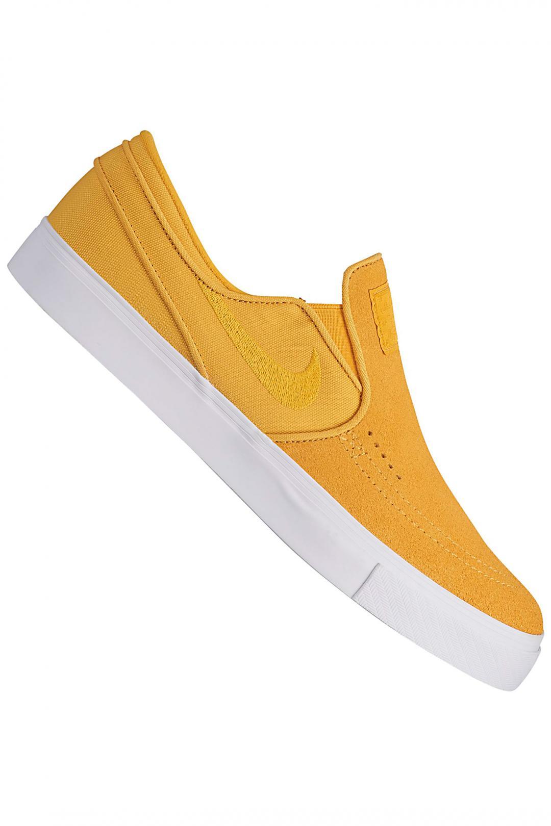 Uomo Nike SB Zoom Stefan Janoski Slip yellow ochre | Scarpe da skate
