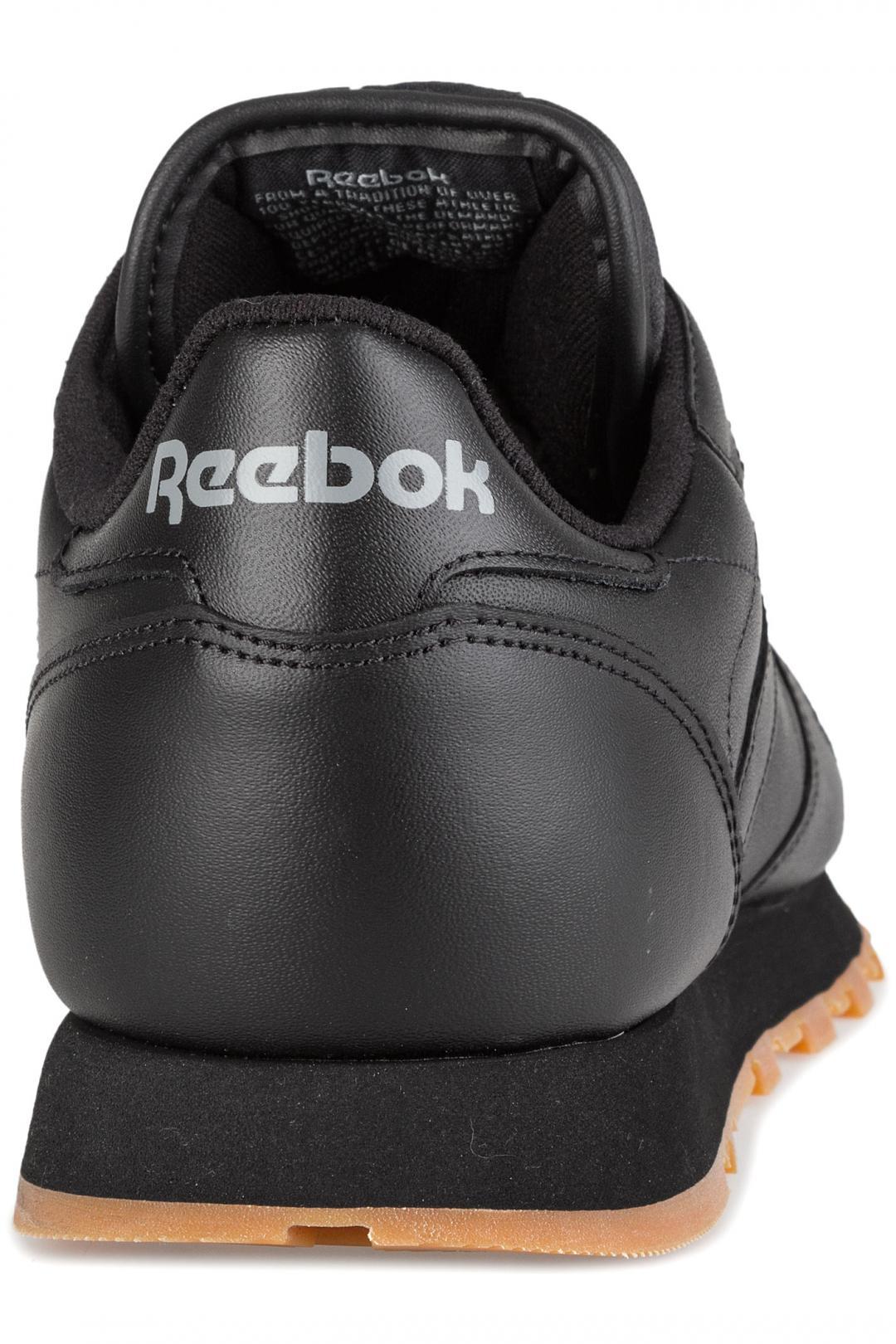 Uomo Reebok Classic Leather black gum   Sneaker
