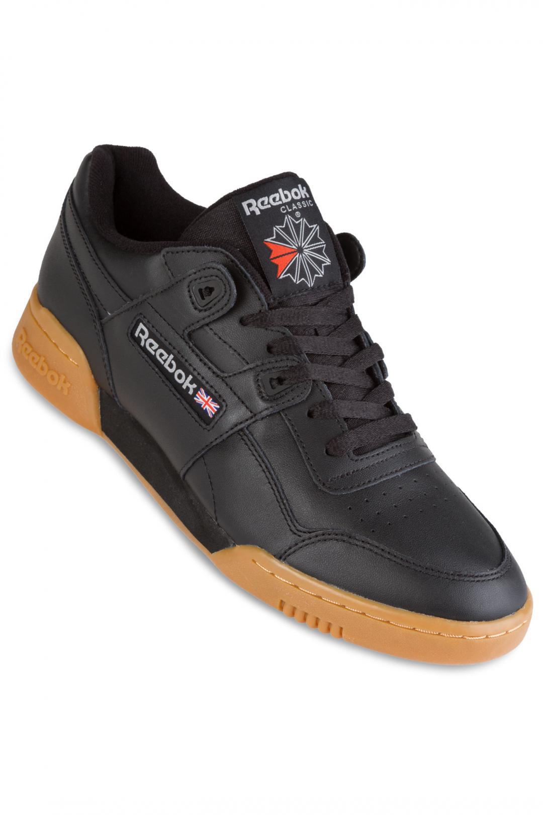Uomo Reebok Workout Plus black carbon classic red | Scarpe da skate