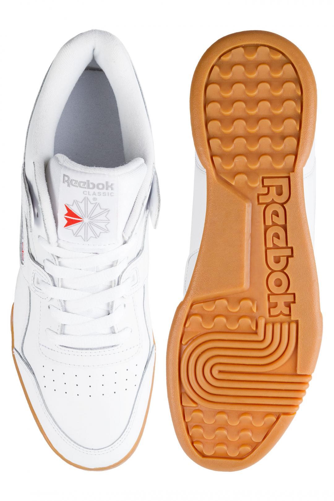 Uomo Reebok Workout Plus white carbon classic red | Scarpe da skate