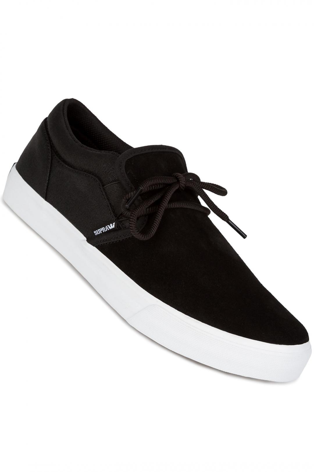 Uomo Supra Cuba black white | Sneakers slip on