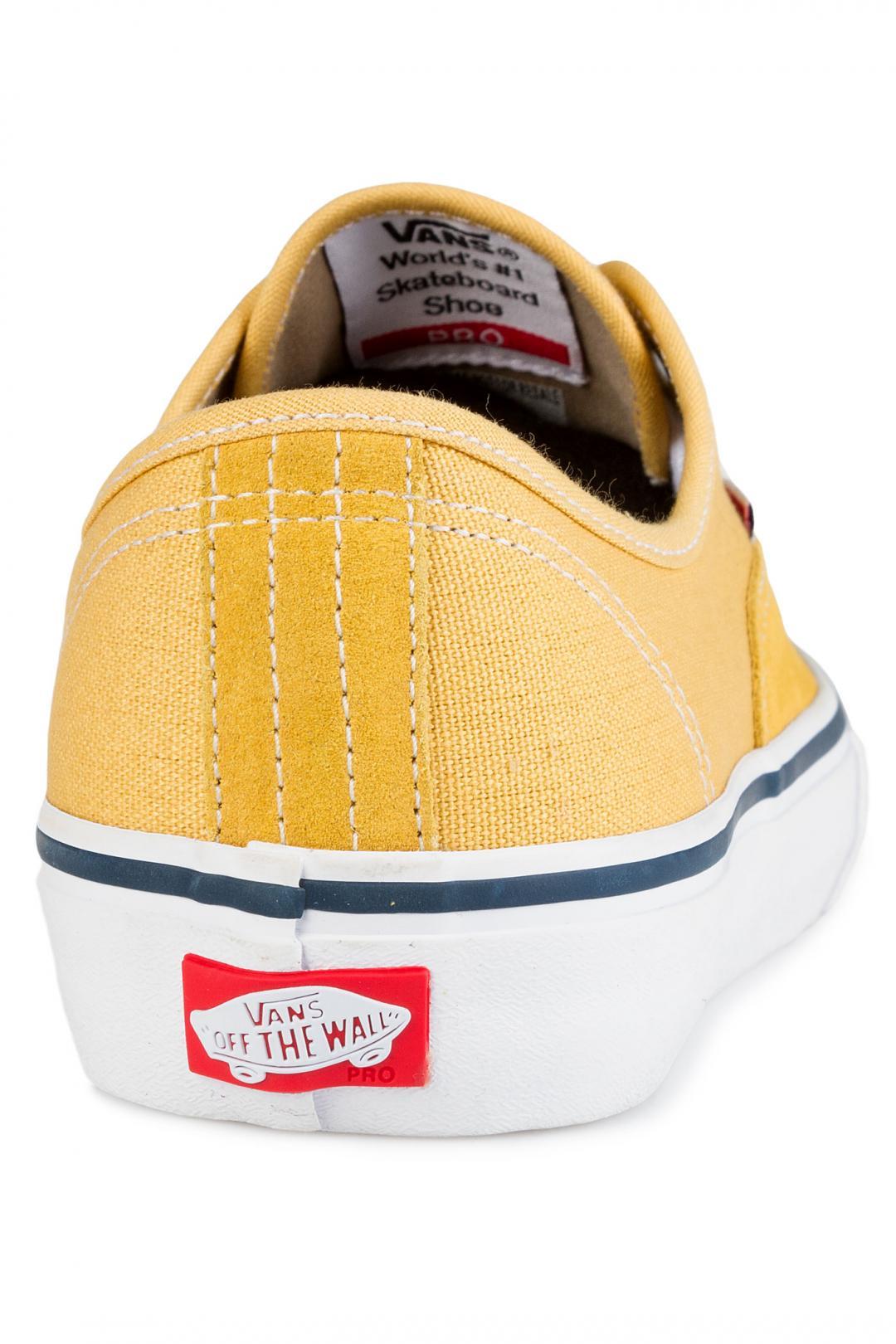 Uomo Vans Authentic Pro ochre white   Sneaker