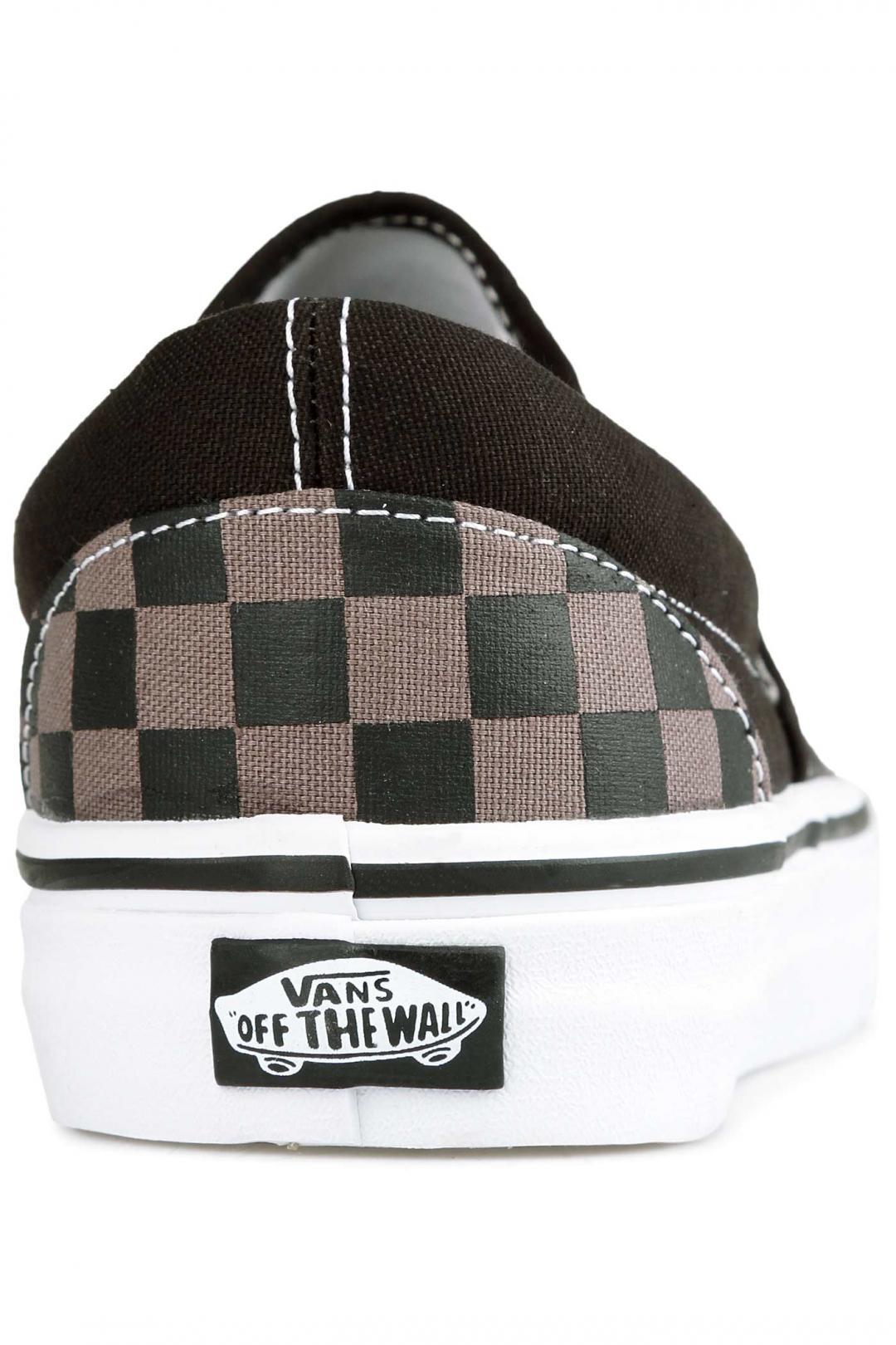 Uomo Vans Classic Slip-On black pewter checkerboard | Sneaker
