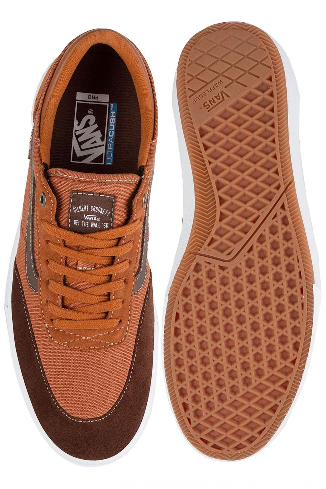 Uomo Vans Gilbert Crockett Pro 2 leather brown potting soil   Sneaker