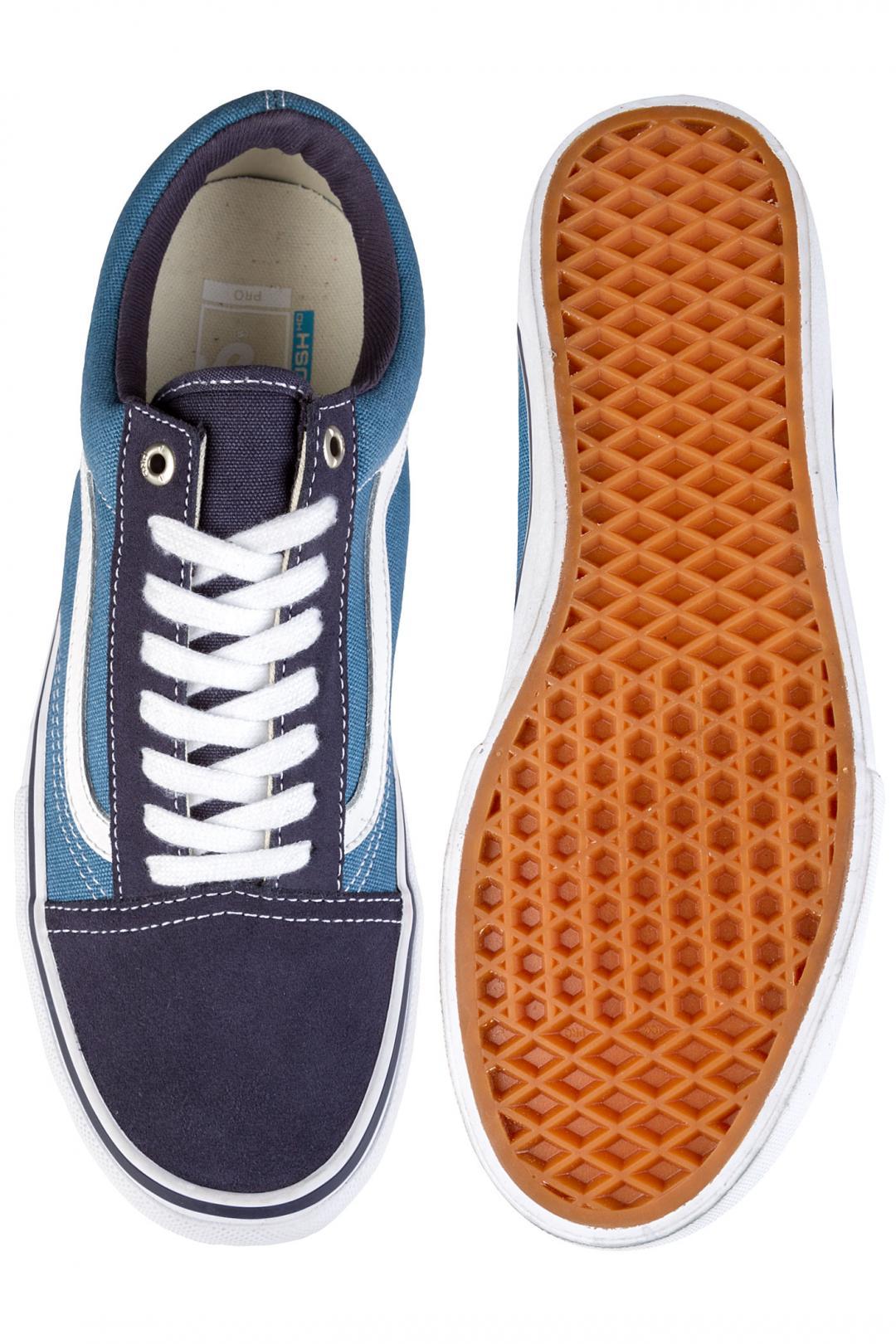 Uomo Vans Old Skool Pro navy stv navy white   Scarpe da skate