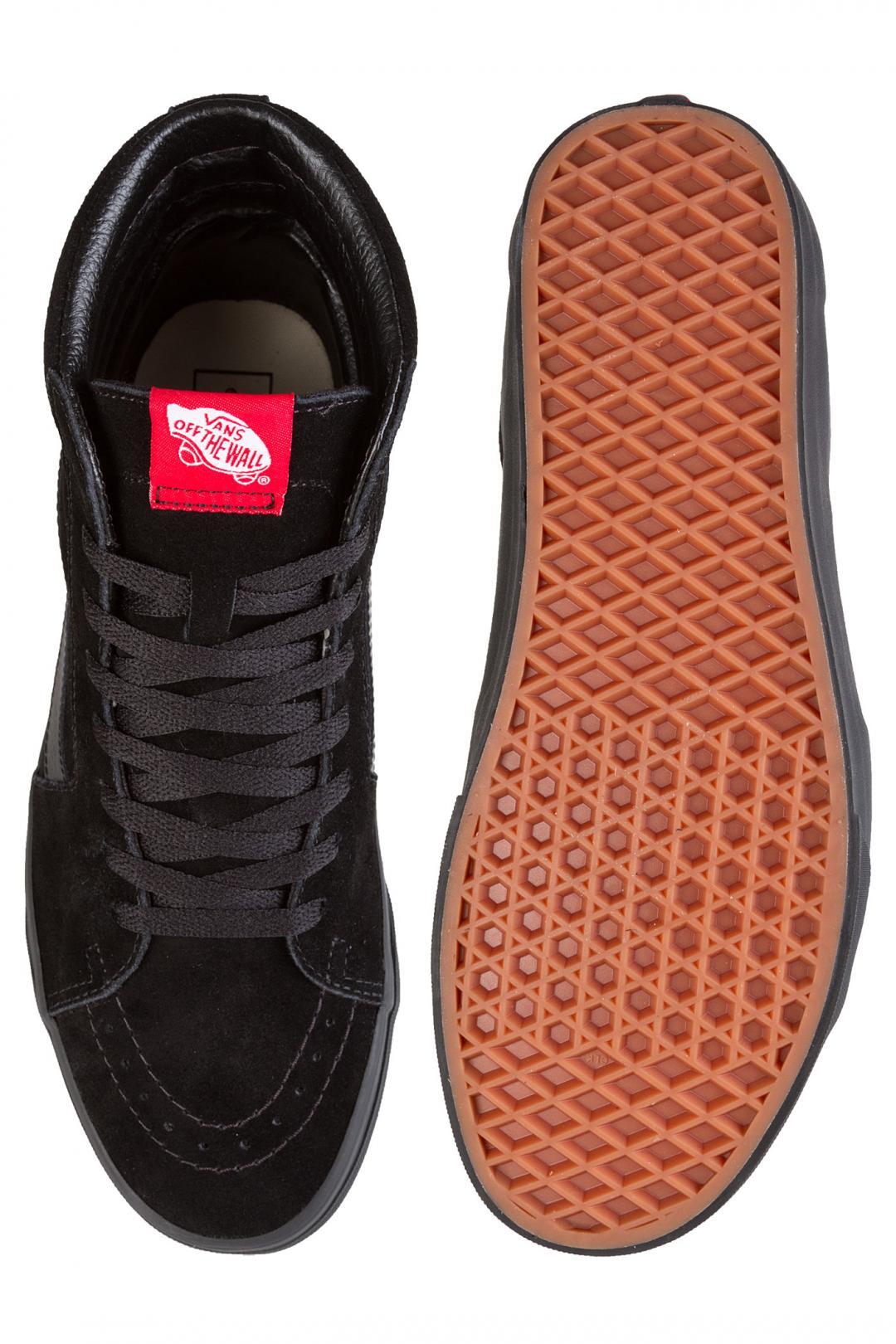 Uomo Vans SK8-Hi black black   Sneaker