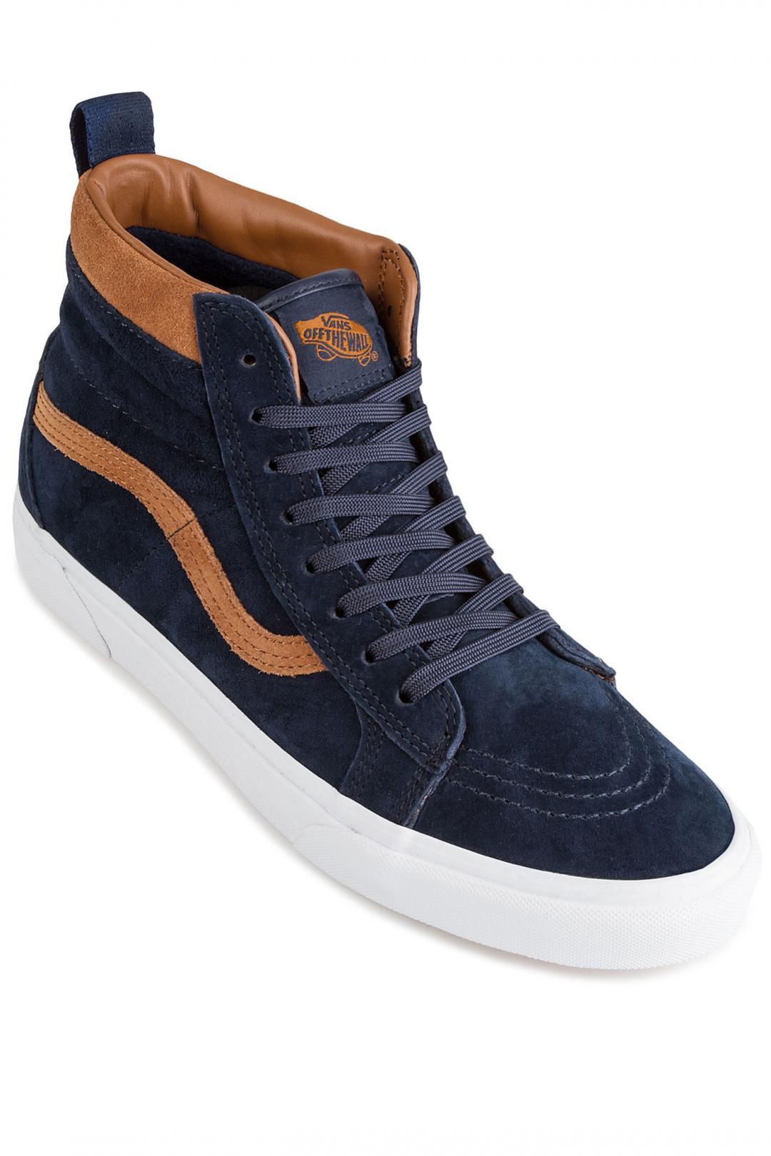 Uomo Vans Sk8-Hi MTE Suede dress blues   Sneaker