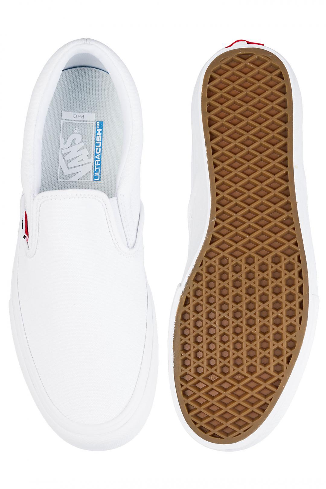 Uomo Vans Slip-On Pro white white | Sneakers slip on