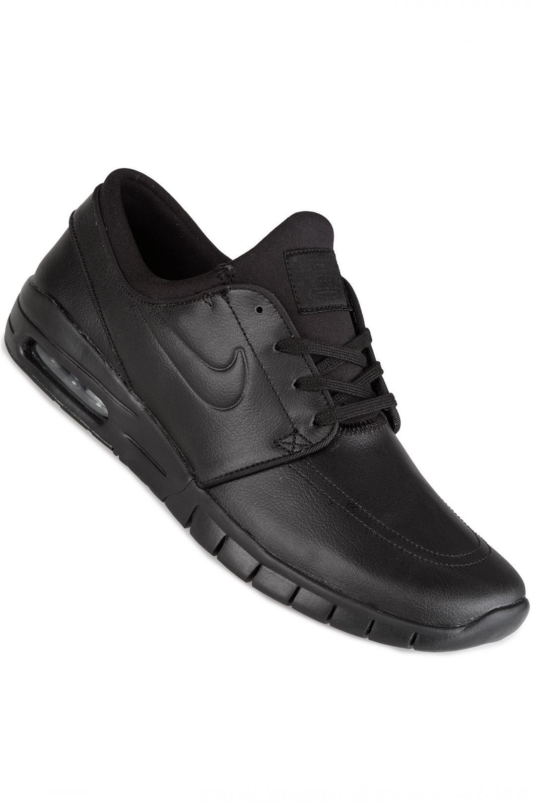 Uomo/Donna Nike SB Stefan Janoski Max L black black metallic pewter | Sneaker