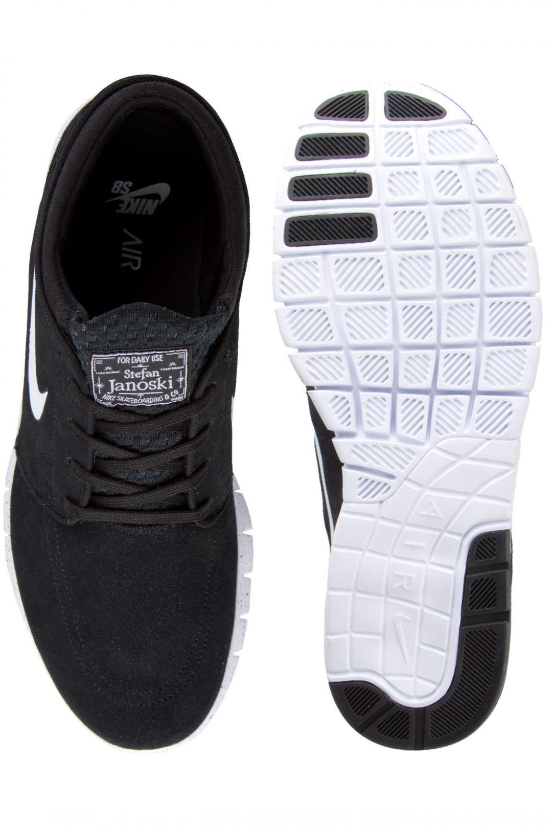 Uomo/Donna Nike SB Stefan Janoski Max Suede black white | Sneakers low top