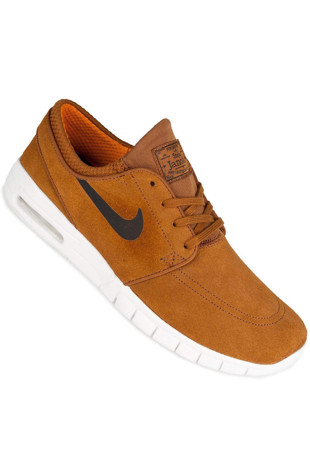 Uomo/Donna Nike SB Stefan Janoski Max Suede hazelnut black   Sneaker