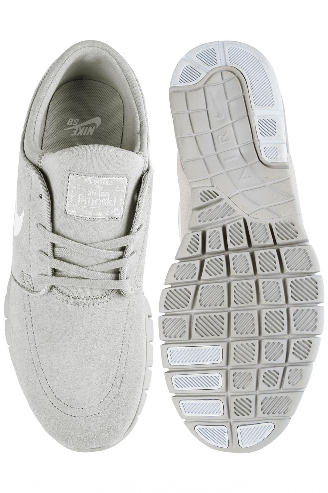 Uomo/Donna Nike SB Stefan Janoski Max Suede matte silver pure platinum | Sneaker