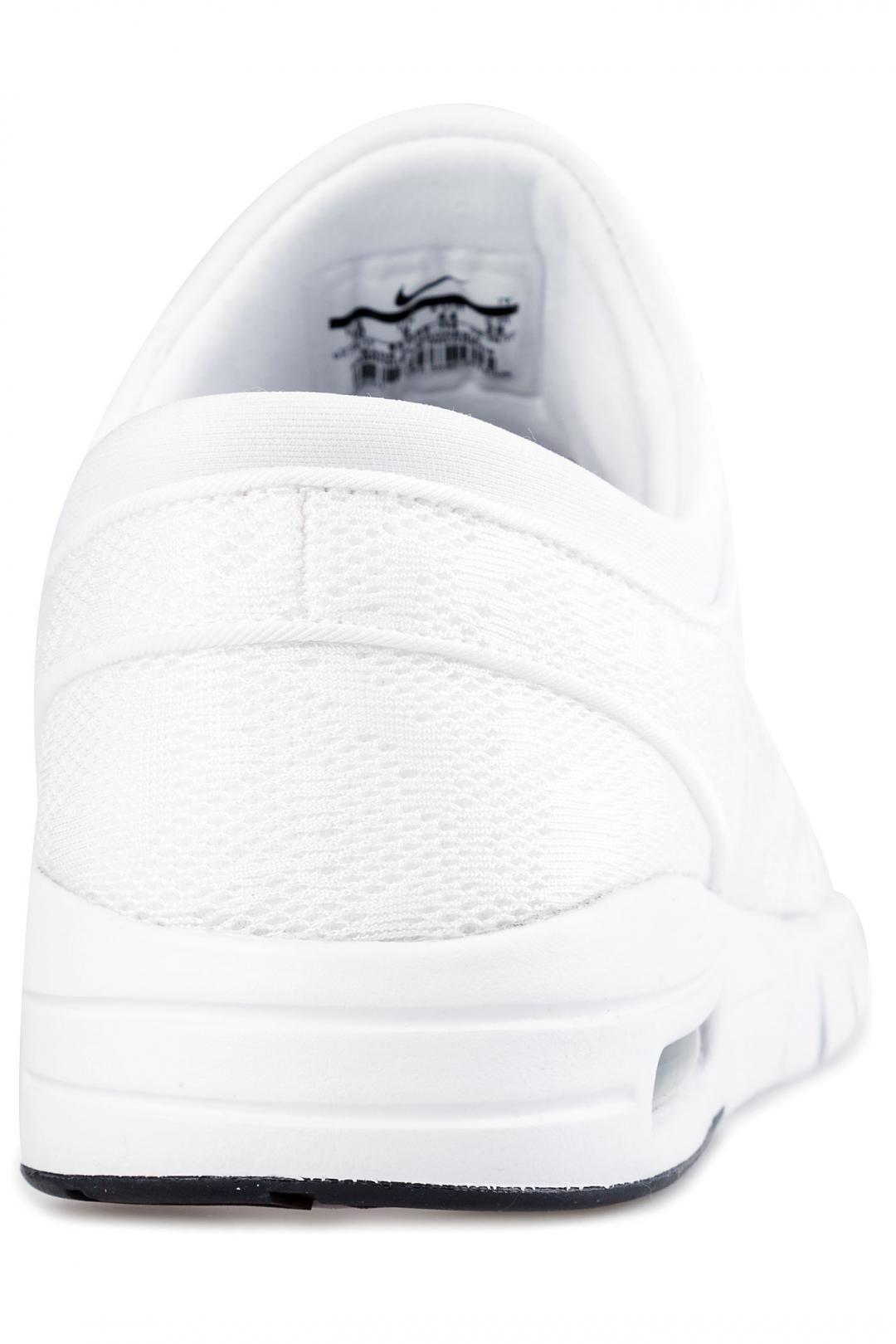 Uomo/Donna Nike SB Stefan Janoski Max white white obsidian   Sneakers low top