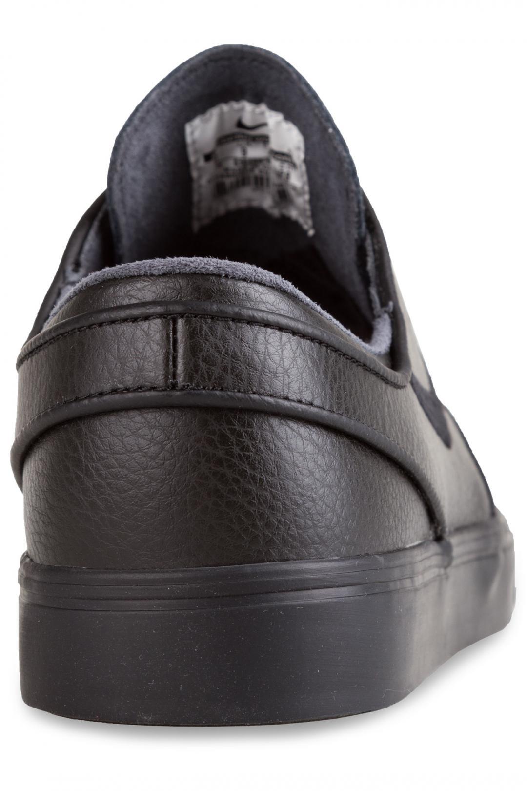Uomo/Donna Nike SB Zoom Stefan Janoski Leather black black black   Sneaker