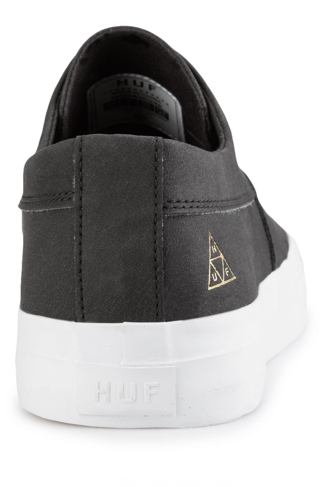 Uomo HUF Dylan Slip On Leather black   Sneakers slip on